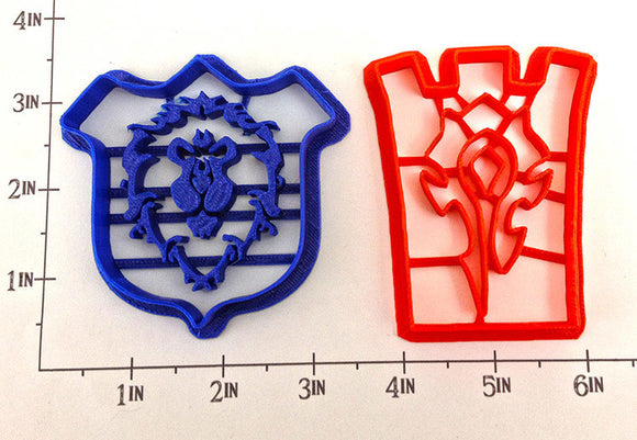 World of Warcraft Horde and Alliance Symbols Cookie Cutter Set