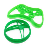XBox Symbol and Controller Cookie Cutter Set