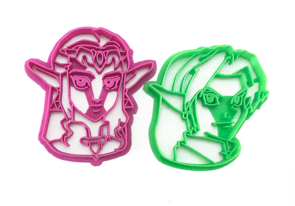 Legend of Zelda - Link and Zelda Cookie Cutter Set