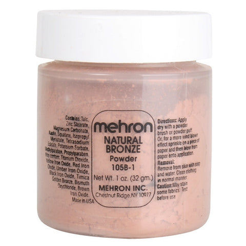 Mehron Specialty Natural Bronze Powder 17g