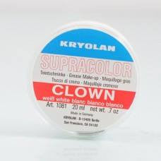 KRYOLAN CLOWN WHITE - Tamed wigs and makeup
