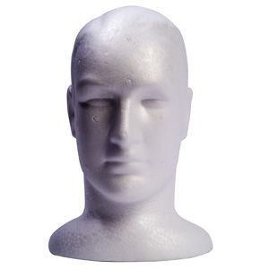 Male Foam Head - Tamed wigs and makeup
