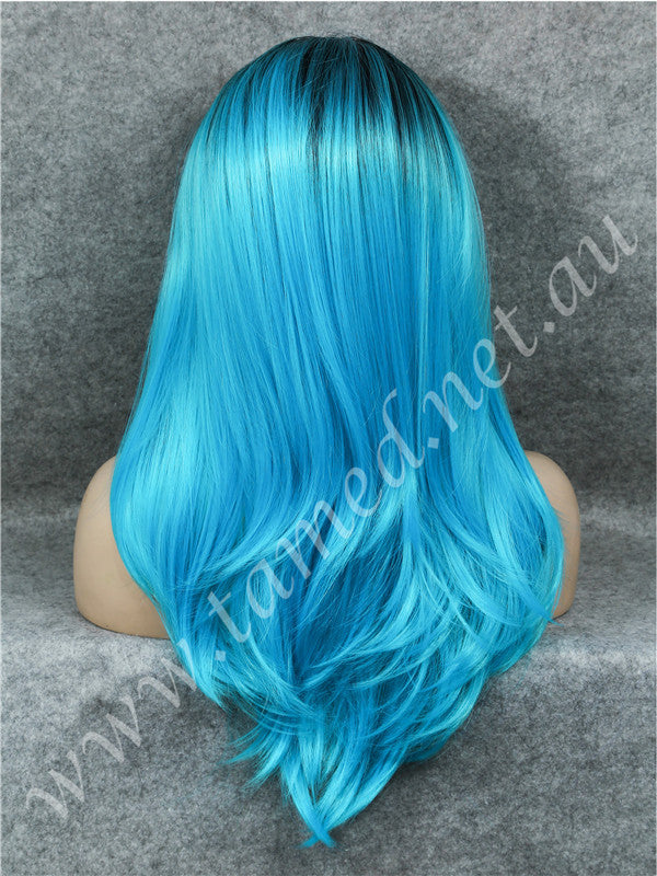 ELISE ELECTRIC BLUE - Tamed wigs and makeup - 2