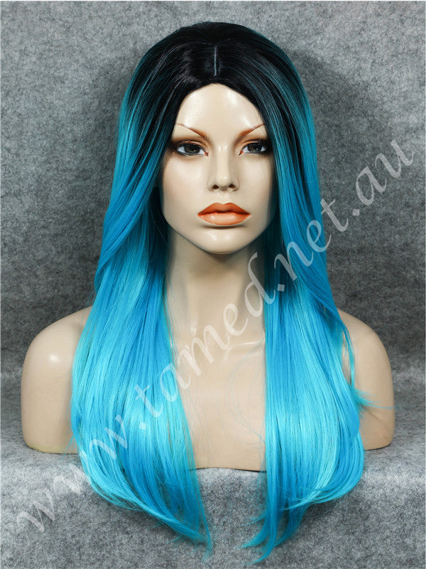ELISE ELECTRIC BLUE - Tamed wigs and makeup - 1
