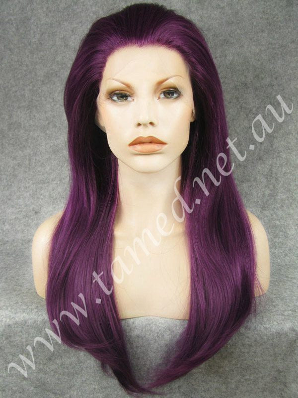 ALYSSA DEEP PLUM - Tamed wigs and makeup - 1