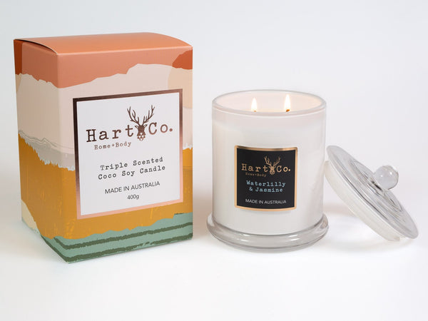 Waterlilly & Jasmine Large Soy Candle