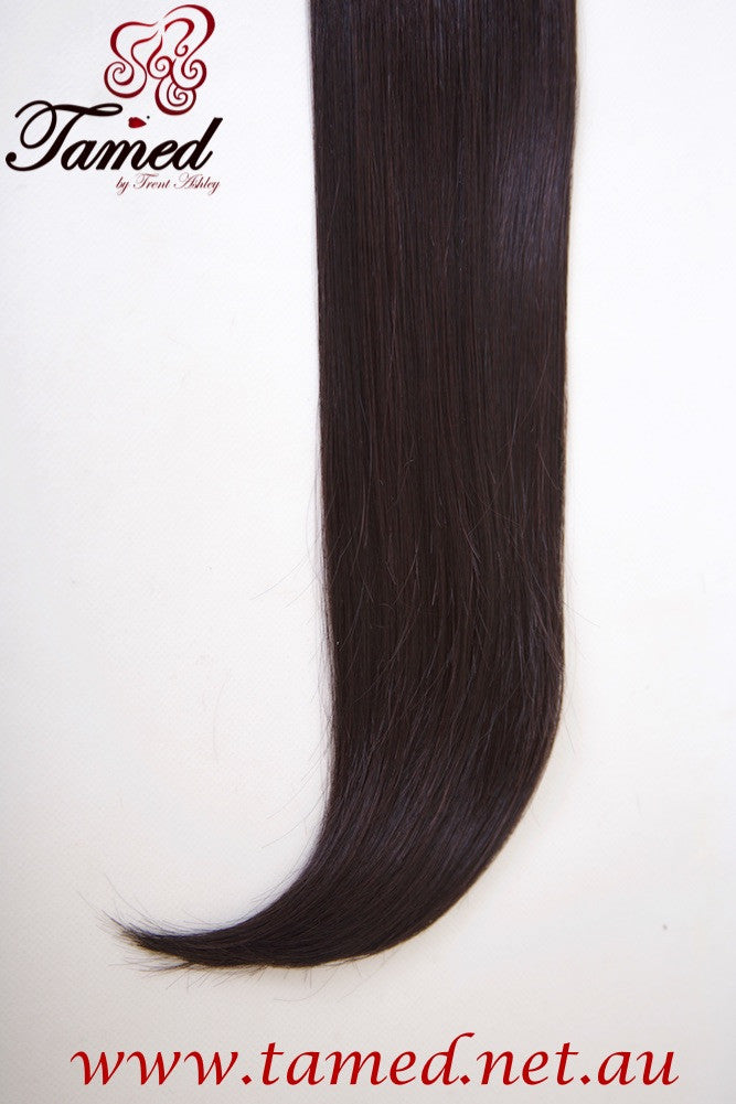 BLACK/DARK BROWN - DELUXE SYNTHETIC WEFT - Tamed wigs and makeup