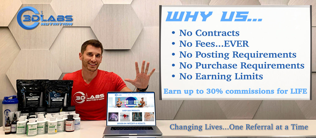 Join the 3D Labs Nutrition Team Affiliate Program