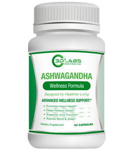 3D Labs Nutrition Ashwagandha Stress Relief