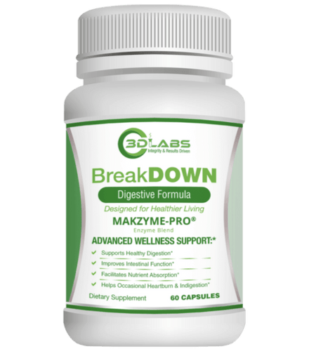 3D Labs Nutrition: BreakDown Digestive Enzymes