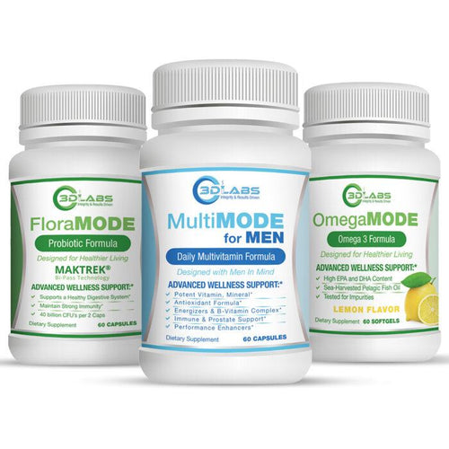 3D Labs Nutrition: Men's Wellness Bundle