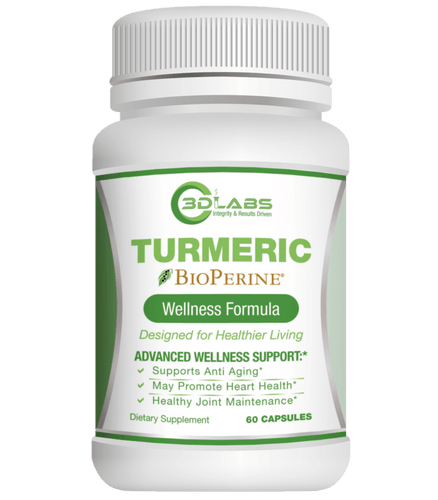 3D Labs Nutrition: Turmeric Enhanced with Bioperine