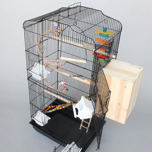 With Accessories Large Bird Cage Metal Bird House Iron Parrot Cage Metal Peony Wren Breeding Cage Nest Bed Iron Pigeon Supplies