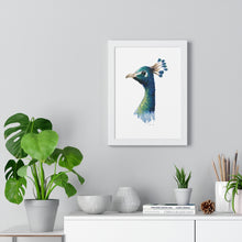 Load image into Gallery viewer, Peacock Premium Framed Poster