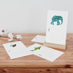 Animal Vertical Desk Calendar