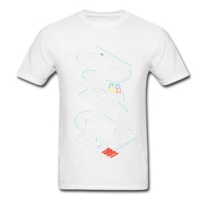 T-shirt Gamer Controller Anatomy Tops