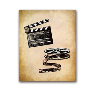 Movie Theater Vintage Art Canvas Painting Wall Picture