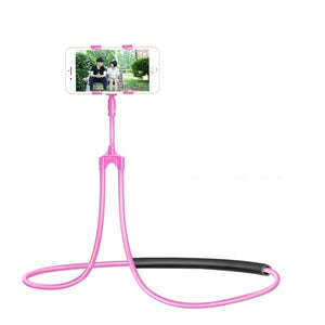 Flexible Mobile Phone Holder Hanging Necklace Bracket 360 Degree Stand