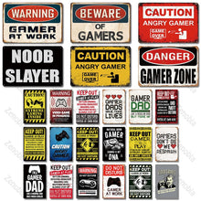 Load image into Gallery viewer, Gamer Metal Signs Tin Wall Decor for House