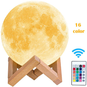 LEADLY Moon Lamp Moon Light Night Light USB Charging Touch Control Brightness Lunar Lamp
