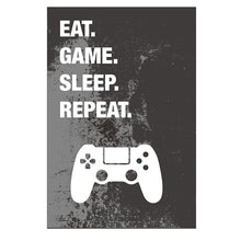Load image into Gallery viewer, Eat Sleep Game Repeat Gaming Wall Art Poster Gamer Canvas Painting Poster and Prints