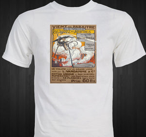 War of the Worlds HG Welles 1906 French Illustration T-shirt
