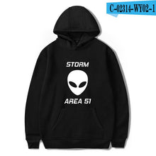Load image into Gallery viewer, Black Hoodie  storm area 51