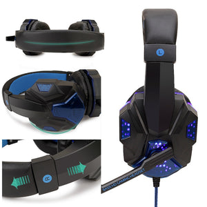 Led Light Gamer Wired Headset With Mic