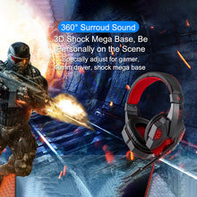 Load image into Gallery viewer, Led Light Gamer Wired Headset With Mic