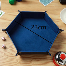 Load image into Gallery viewer, Foldable Dice Tray Box PU Leather Folding Hexagon