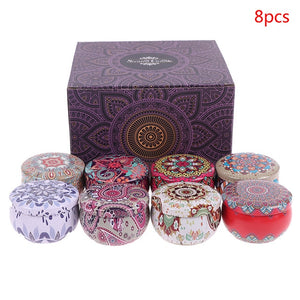 Scented Candles Gift Set 4/8 Pieces 2.8 oz Natural Soy Wax Aromatherapy Candles with Lasting Wake, Portable Travel Tin Candles for Stress Relief of the Body
