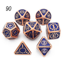 Load image into Gallery viewer, Metal Dice Set 7 D4 D6 D8 D10 D12 D20 with Soft Drawstring Pouch