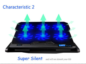 COOLCOLD Gaming Laptop Cooler Notebook Cooling Pad