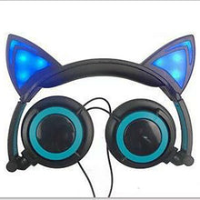 Load image into Gallery viewer, Flashing Glowing cat ear headphones Gaming Headset with LED light