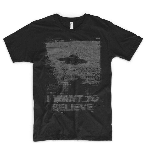 I Want To Believe T Shirt Alien Ufo Area 51 Roswell