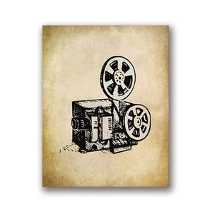 Movie Theater Vintage Art Canvas Posters Painting Wall Picture Popcorn Film