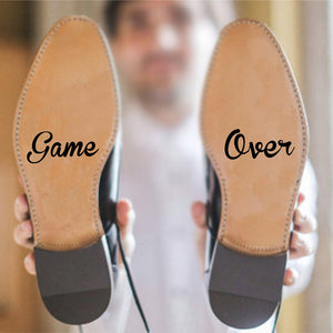 Game Over Groom Vinyl Art Decal Sticker for Shoes
