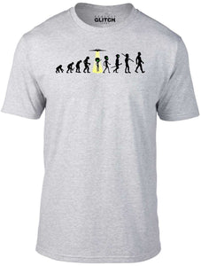 Mens Evolution - Alien Abduction T-Shirt - Ufo Invasion Beam Me Up