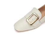 Load image into Gallery viewer, LEATHER LOAFERS WITH BUCKLE