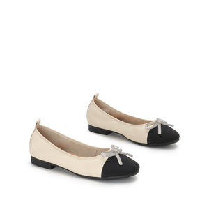 FLAT SUEDE  SHOES WITH BOW