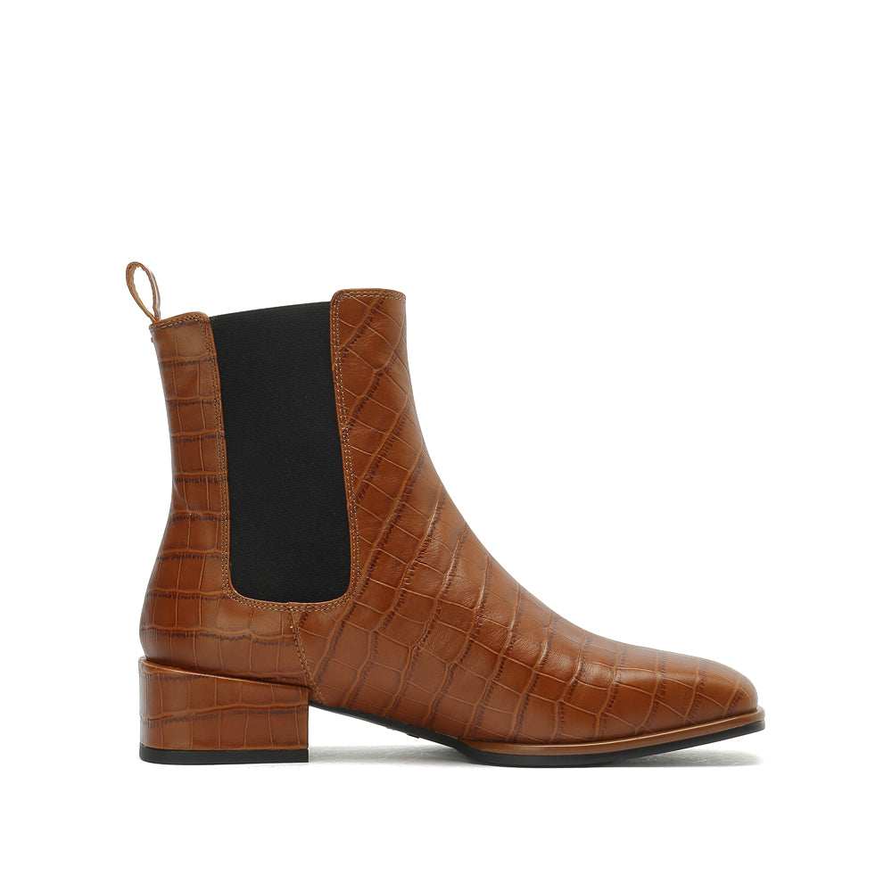 CROCO PATTERN CHELSEA BOOTS