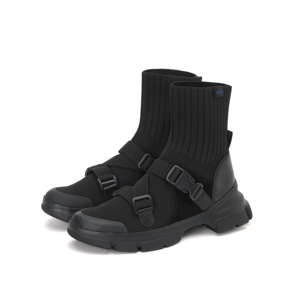 STACCATO Buckle Strap Sock Boots