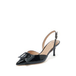 Load image into Gallery viewer, SQUARE BUCKLE SLINGBACK PUMPS