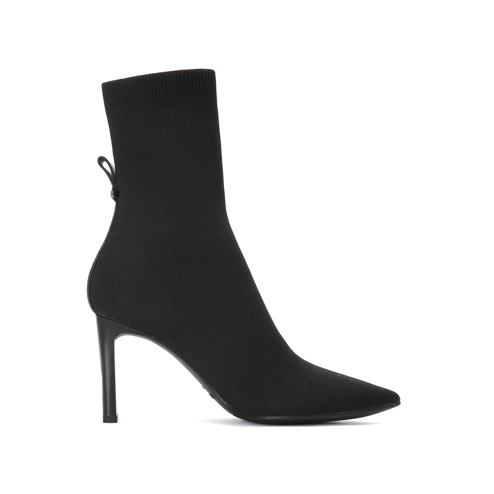 FABRIC POINTED HIGH HEEL BOOTS