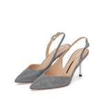 Load image into Gallery viewer, GLITTER SLINGBACK PUMPS