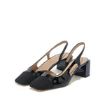 Load image into Gallery viewer, CAP TOE LEATHER SLINGBACK PUMPS