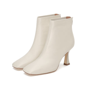 Pointed Mid Heel Boots