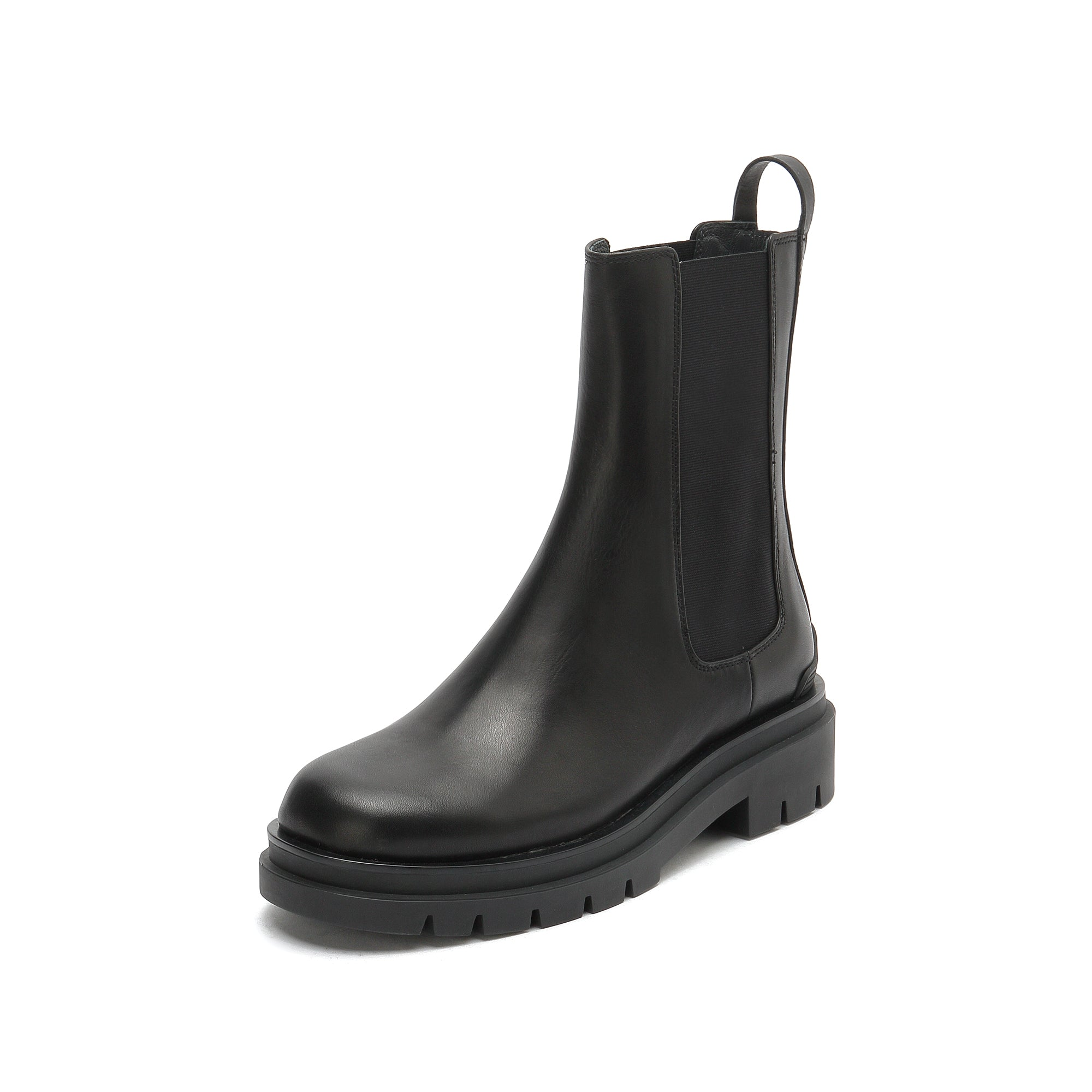 LEATHER CHELSEA BOOTS WITH ZIPPER
