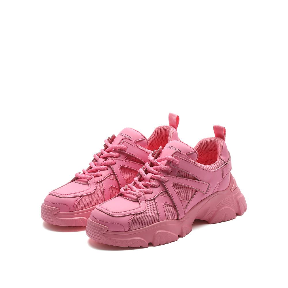 PINK WIDE FIT CHUNKY SNEAKERS