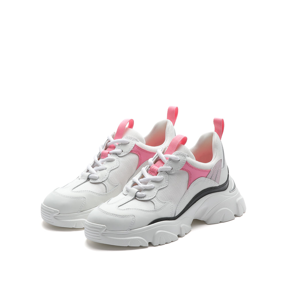 COLOR BLOCK CHUNKY SNEAKERS IN CAT EAR DETAILS